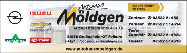 Anzeige Autohaus Möldgen GmbH & Co. KG