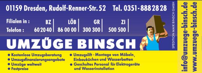 Anzeige BINSCH UMZÜGE