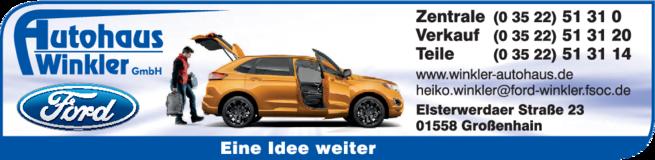 Anzeige Autohaus Winkler GmbH