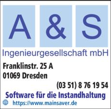 Anzeige A & S Ingenieurgesellschaft mbH