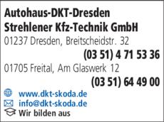 Anzeige Autohaus-DKT-Dresden Strehlener Kfz-Technik GmbH