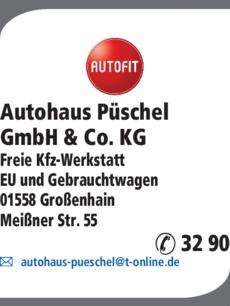 Anzeige Autohaus Püschel GmbH & Co. KG