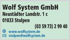 Wolf System GmbH in Stolpen ⇒ in Das Örtliche