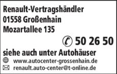 Anzeige Renault-Vertragshändler