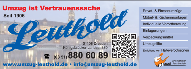 Anzeige AMÖ Fachbetrieb - Umzüge Katja Leuthold