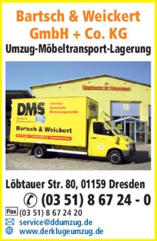 Anzeige Bartsch & Weickert GmbH + Co. KG