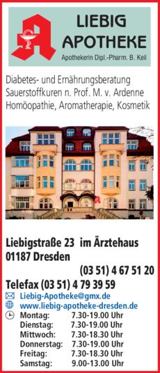 Anzeige Liebig-Apotheke, Dipl.-Pharm. Brigitte Keil