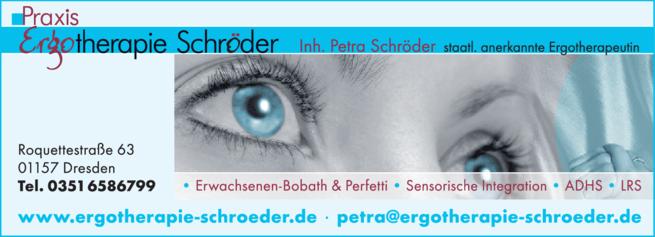 Anzeige Schröder, Petra Ergotherapie