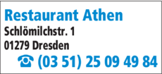 Anzeige Restaurant Athen