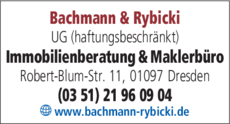 Anzeige Bachmann & Rybicki UG (haftungsbeschränkt)