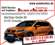Anzeige Autohaus Bruhns GmbH SEAT