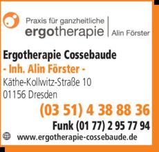 Anzeige Ergotherapie Cossebaude