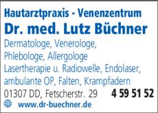 Anzeige Büchner Lutz Dr. med.
