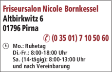 Anzeige Bornkessel, Nicole Friseursalon
