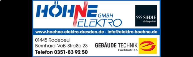 Anzeige HÖHNE ELEKTRO GmbH