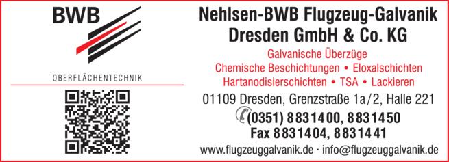 Anzeige Oberflächenbeschichtung Nehlsen-BWB Flugzeug-Galvanik Dresden GmbH & Co. KG