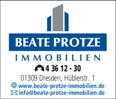 Anzeige BEATE PROTZE IMMOBILIEN