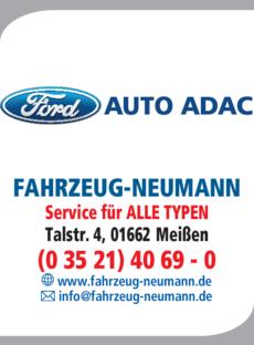 Anzeige Auto ADAC Fahrzeug-Neumann