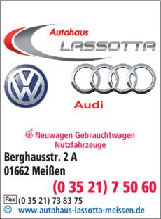 Anzeige Autohaus Lassotta GmbH