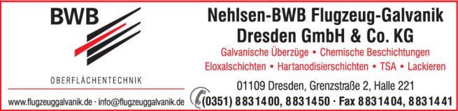Anzeige Nehlsen-BWB Flugzeug-Galvanik Dresden GmbH & Co. KG