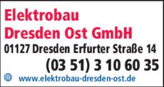 Anzeige Elektrobau Dresden Ost GmbH