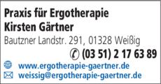 Anzeige Praxis für Ergotherapie Kirsten Gärtner