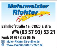 Anzeige Malermeister Tilo Richter
