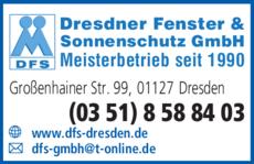 Anzeige Dresdner Fenster und Sonnenschutz GmbH DFS