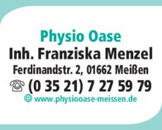 Anzeige Physio Oase Franziska Menzel