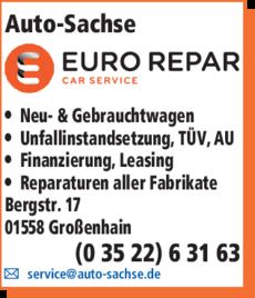 Anzeige Auto - Sachse