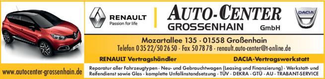 Anzeige Auto-Center Großenhain GmbH