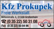 Anzeige Auto Prokupek Benno
