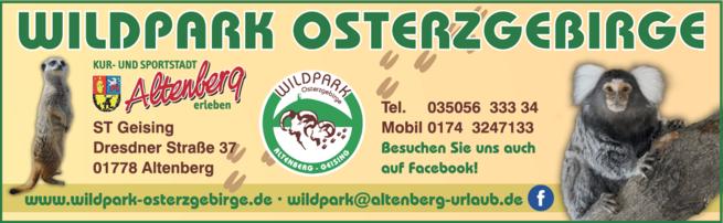 Anzeige Wildpark Osterzgebirge