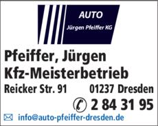 Anzeige Pfeiffer, Jürgen