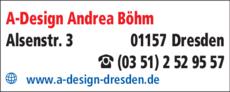 Anzeige A-DESIGN Andrea Böhm