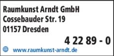 Anzeige ARNDT MALER Raumkunst GmbH