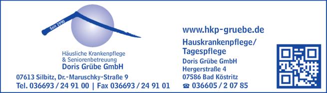 Anzeige Häusliche Krankenpflege & Seniorenbetreuung Doris Grübe GmbH