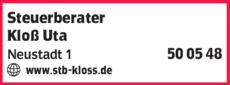 Anzeige Steuerberater Kloß Uta