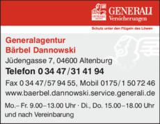 Generali Versicherungen Dannowski Barbel In Altenburg In Das Ortliche