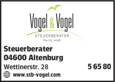 Anzeige Vogel & Vogel Steuerberater