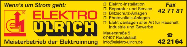 Anzeige Elektro Ulrich
