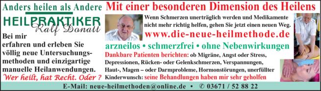 Anzeige Heilpraktiker Donatt Ralf