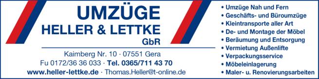 Anzeige Heller & Lettke GbR