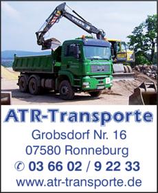 Anzeige ATR Transporte