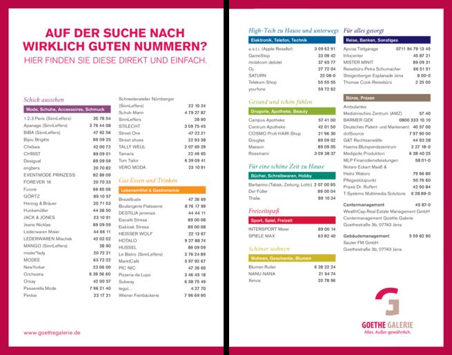 Anzeige Goethe Galerie