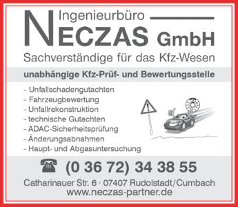Anzeige Kfz-Sachverständige Ingenieurbüro Neczas GmbH