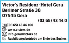Anzeige Victor´s Residenz-Hotel Gera