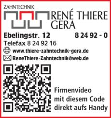 Anzeige Thiere Rene Zahntechnik