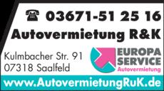 Anzeige Autovermietung R&K GmbH