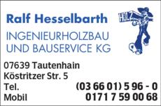 Anzeige Ingenieurholzbau und Bauservice KG